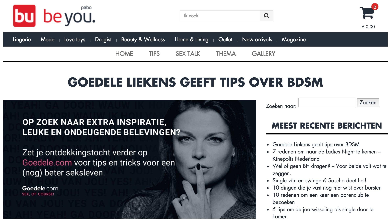 Goedele voor Pabo Nederland over BDSM!