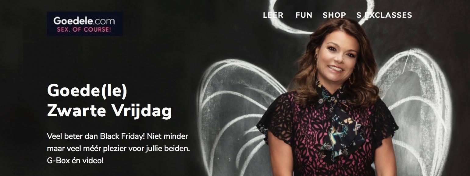 Black Friday Weekend, ja hoor, ook bij Goedele.com!